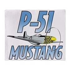 P-51 Mustang Throw Blanket