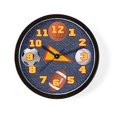 Sports Balls Wall Clock