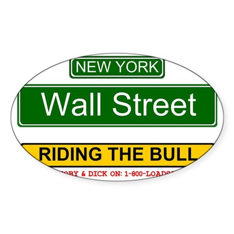 RIDING THE BULL - WALL STREET Decal