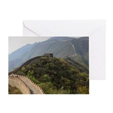 Mutianyu section of the Great Wall o Greeting Card