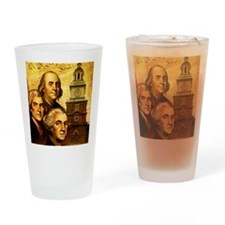 Founding fathers in front of the De Drinking Glass