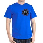 Masonic Maltese Square and Compasses Dark T-Shirt