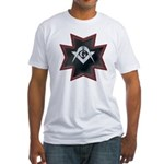 Masonic Maltese Square and Compasses Fitted T-Shir