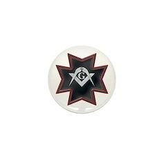 Masonic Maltese Square and Compasses Mini Button