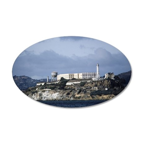 Alcatraz, San Francisco, CA, 35x21 Oval Wall Decal