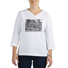 Henry IV entering Paris with ar Women's Long Sleeve Shirt (3/4 Sleeve)