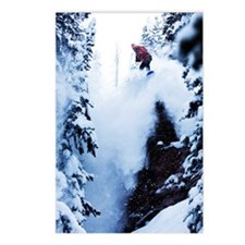 A snowboarder jumping off Postcards (Package of 8)