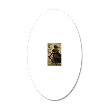 Swordslinger Book Cover 20x12 Oval Wall Decal