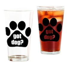 got dog? Drinking Glass