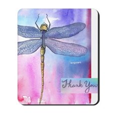 Dragonfly Thank You Mousepad