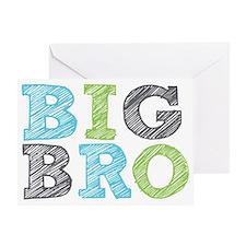 Sketch Style Big Bro Greeting Card