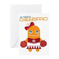 Cheerleader Susan Greeting Card