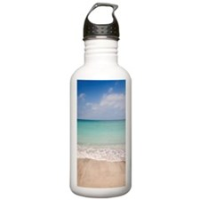 Beach scene with blue  Water Bottle