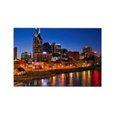 Nashville, Tennessee skyline Rectangle Magnet
