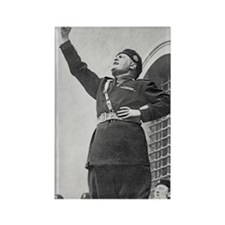 Benito Mussolini speaking to stud Rectangle Magnet