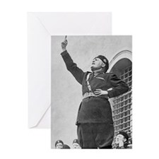 Benito Mussolini speaking to student Greeting Card