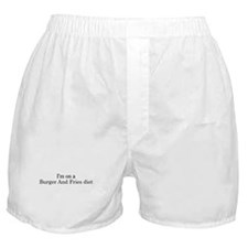 Burger And Fries diet Boxer Shorts