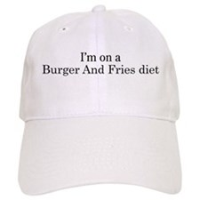 Burger And Fries diet Baseball Cap