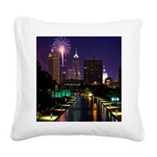 Fireworks in Indianapolis Square Canvas Pillow