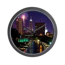 Fireworks in Indianapolis Wall Clock