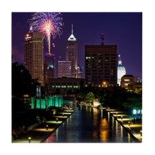 Fireworks in Indianapolis Tile Coaster