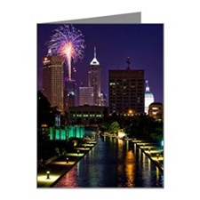 Fireworks in Indianapolis Note Cards (Pk of 10)