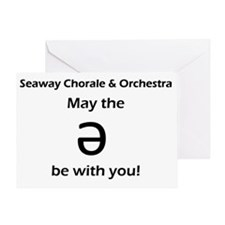 May the schwa be with you! Greeting Card