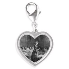 English nurse Florence Nightin Silver Heart Charm