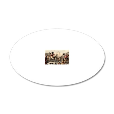 King William III in Battle o 20x12 Oval Wall Decal