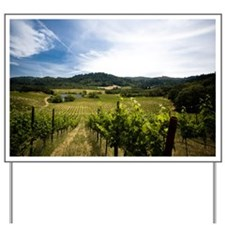 Vineyard in Sonoma Valley, California Yard Sign