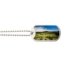 Vineyard in Sonoma Valley, California Dog Tags