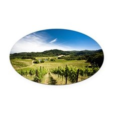 Vineyard in Sonoma Valley, Califor Oval Car Magnet