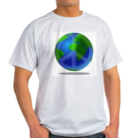 Peace Planet Ash Grey T-Shirt