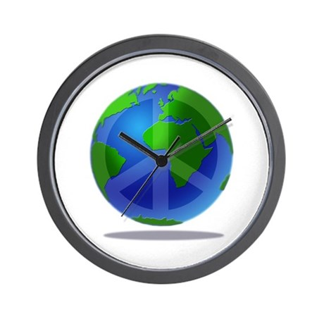 Peace Planet Wall Clock