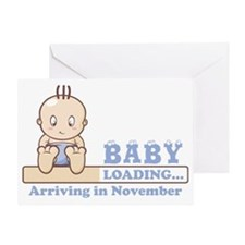 Arriving in November Greeting Card