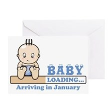 Arriving in January Greeting Card