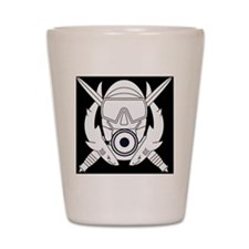 PSD Diver Logo Shot Glass