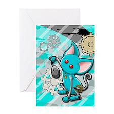 Robot cat Greeting Card