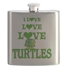 Love Love Turtles Flask