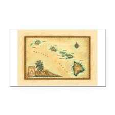 Hawaii map Rectangle Car Magnet