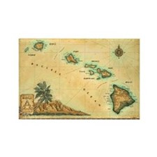 Hawaii map Rectangle Magnet