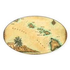 Hawaii map Decal