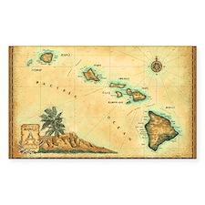 Hawaii map Decal