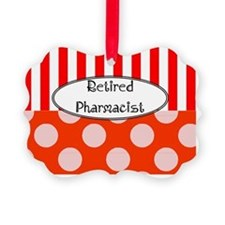 Retired Pharmacst Apron 2 Ornament