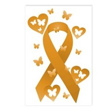 Orange Awareness Ribbon Postcards (Package of 8)
