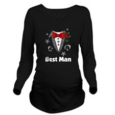best man tuxedo darks Long Sleeve Maternity T-Shir