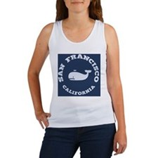 souv-whale-sf-ca-PLLO Women's Tank Top