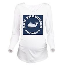 souv-whale-sf-ca-PLL Long Sleeve Maternity T-Shirt