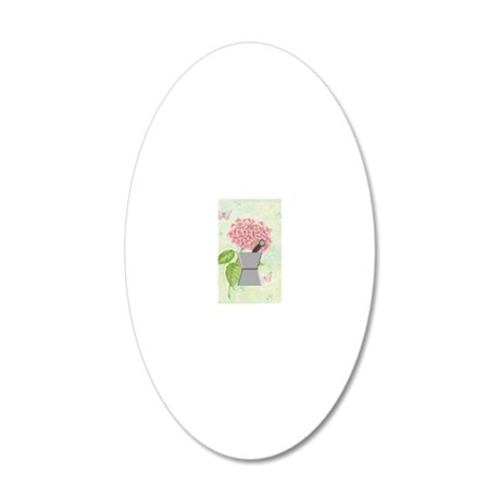 pest and mort hydrangea 2 20x12 Oval Wall Decal