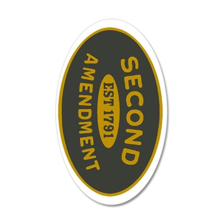 2A Oval_Dark Olive/HE Yellow 35x21 Oval Wall Decal